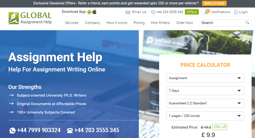 globalassignmenthelp.com review